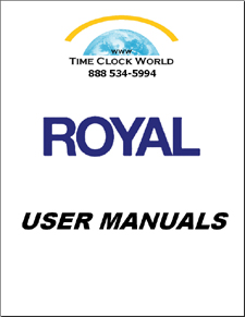 Royal User Manuals