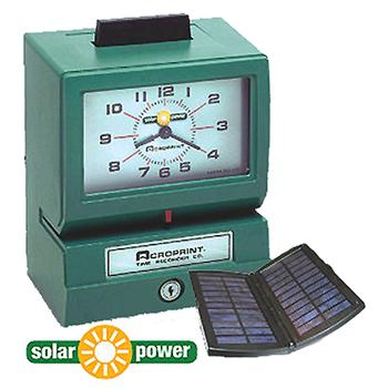 Acroprint 125sp Solar Powered Mechanical Time Clock Time