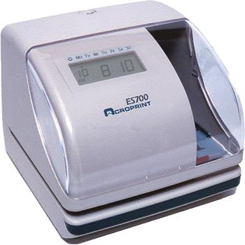 Acroprint Es700 Beige Electronic Time Clock Time Clock