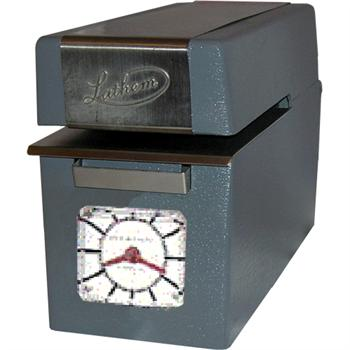 how to set the time on a lathem time clock