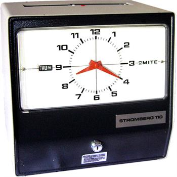 Stromberg 110 Mechanical Time Clock Time Clock World