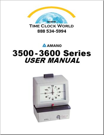 pyramid 2650 time clock manual