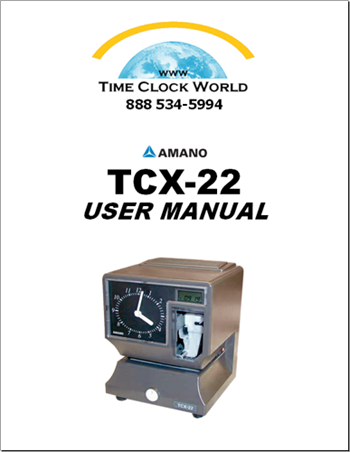 Amano TCX22 Electronic Dual Battery/Electrical Time Clock ...