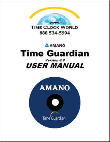 Amano Time Guardian Time and Attendance Software User