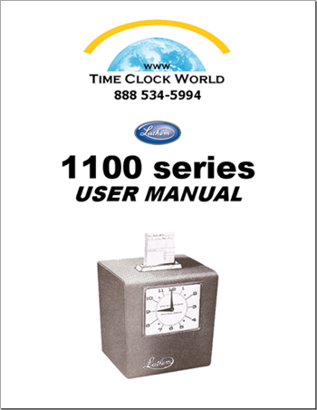Lathem 1100 Series Mechanical Time Clock User Manual