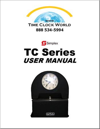 royal time clock tc100 manual